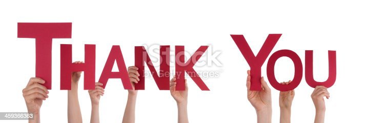 istock Hands Holding Thank You 459366363