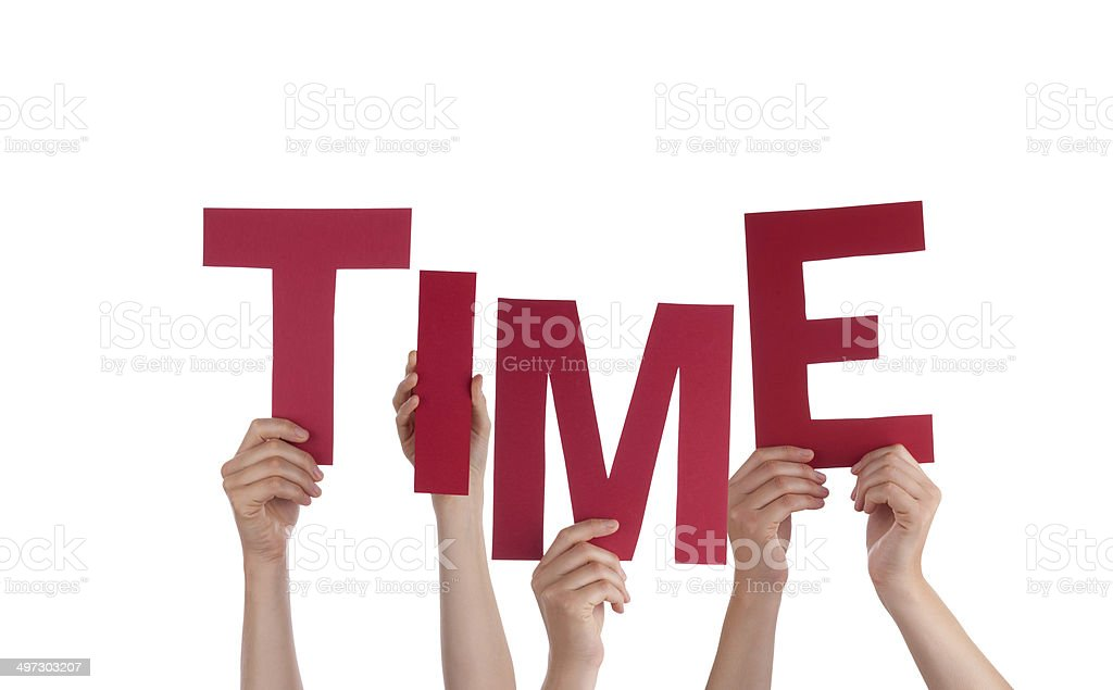Hands Holding Time stock photo