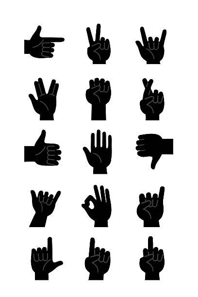 Mains icônes noir - Photo