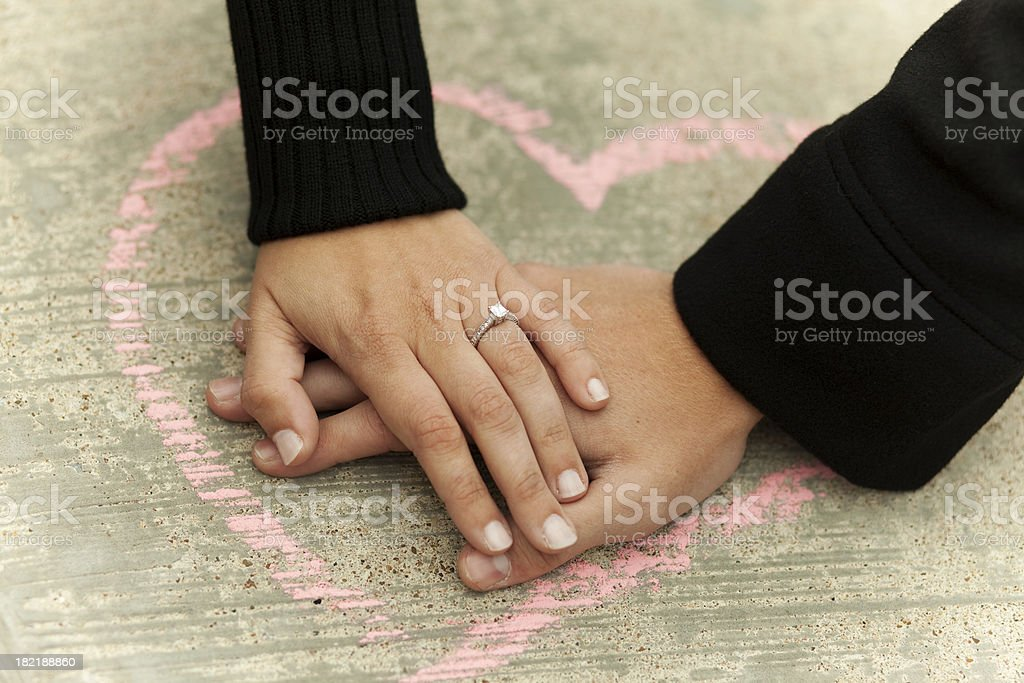 Hands in a Heart royalty-free stock photo
