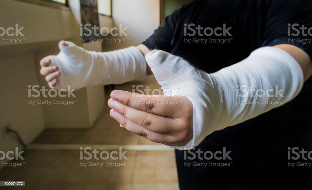 Hände In Verband – Foto