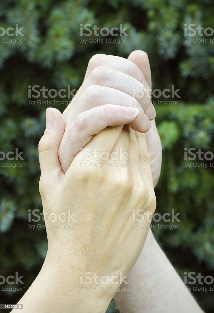 Hands in confidence royalty-free stock photo