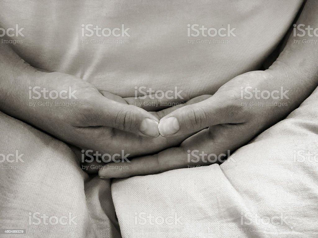 Hände in meditation – Foto