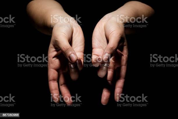 Hands In Mudra Stock Photo - Download Image Now