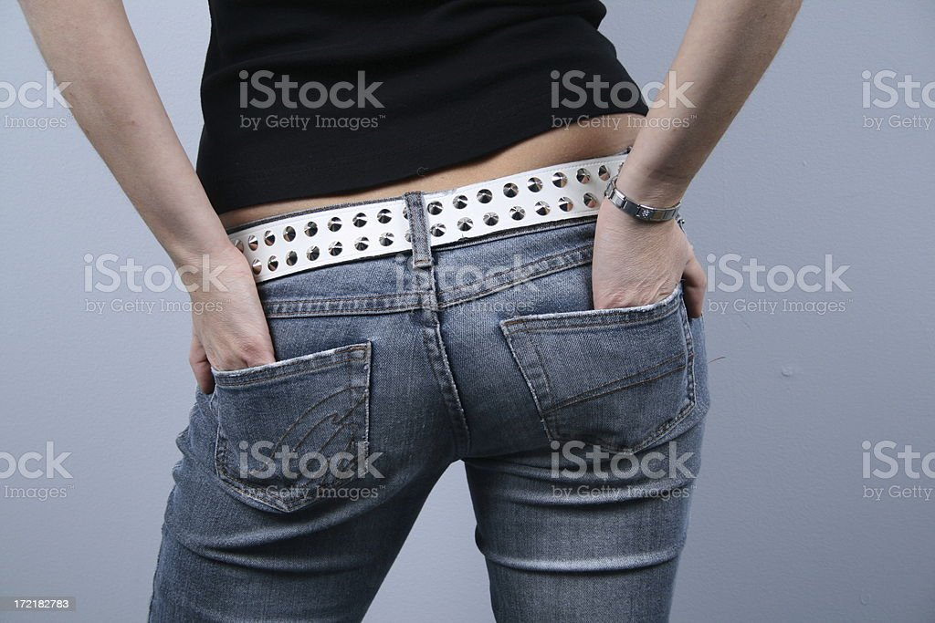 hands in my pocket royalty-free stock photo