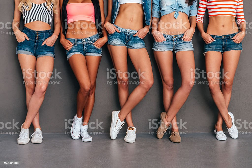 Hands in pockets. stock photo