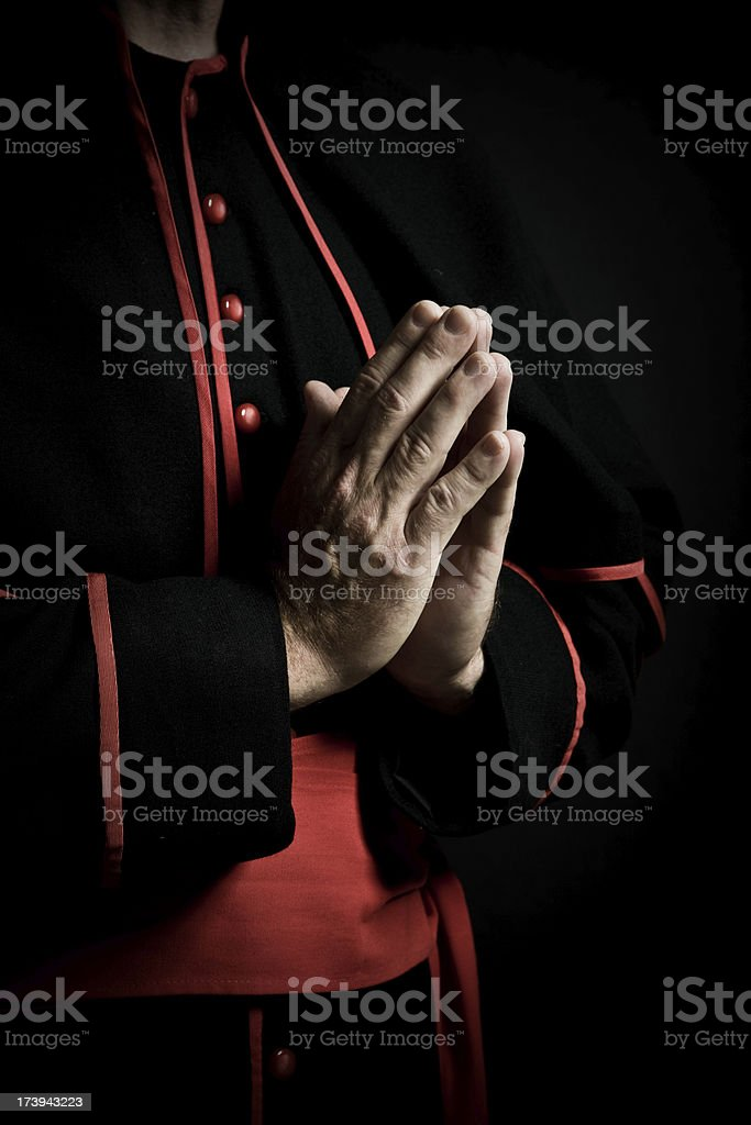 Hands in prayer stock photo