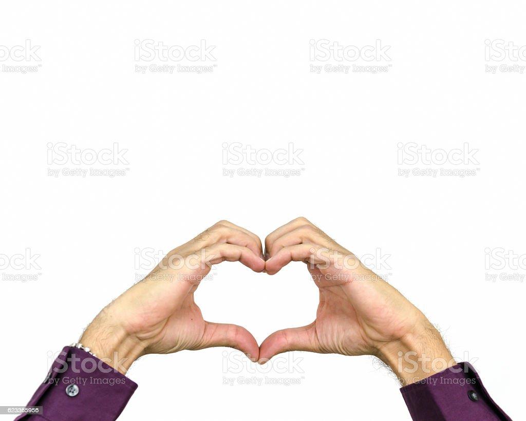 Mãos em forma de coração - foto de acervo