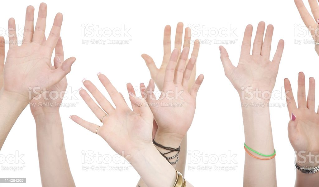 Hands in the Air... stock photo