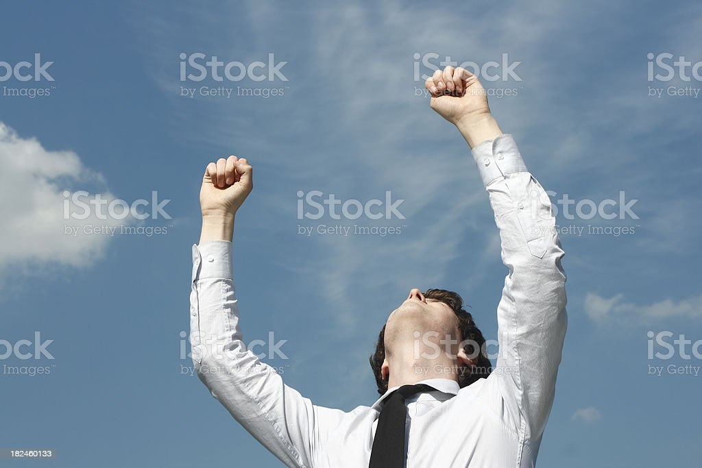 Hands in the Air royalty-free stock photo
