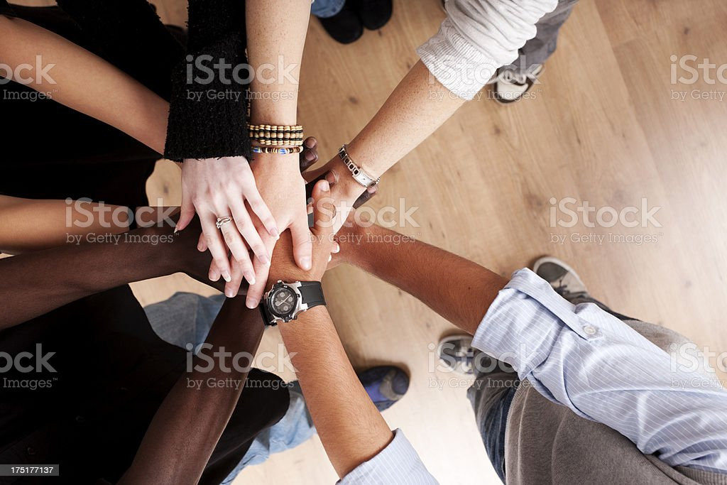Hands in together stock photo