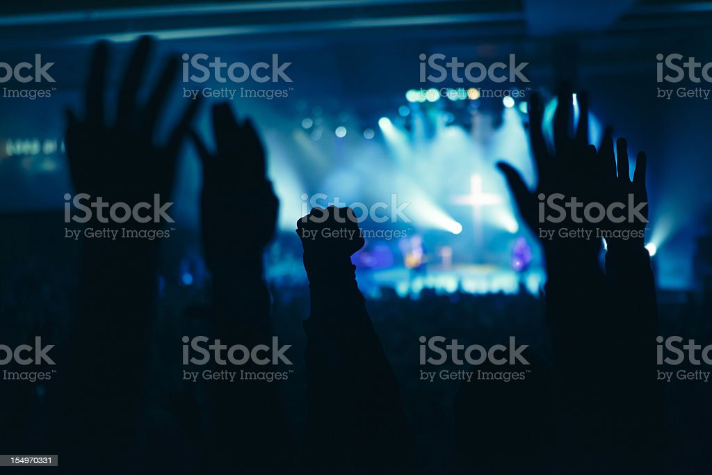 Hands in Worship royalty-free stock photo