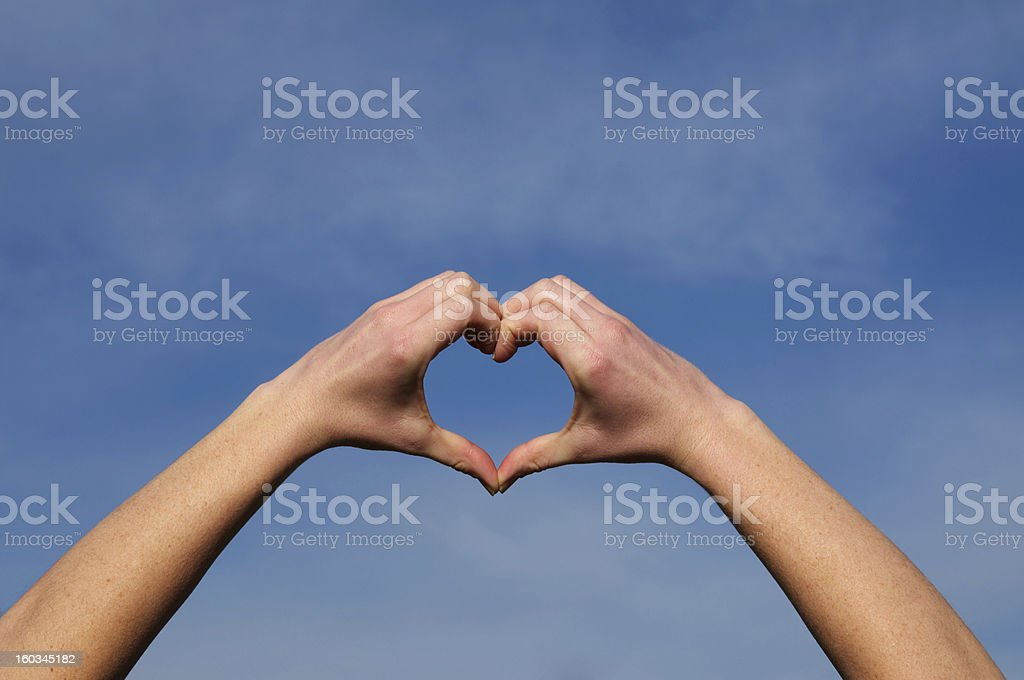 hands make a heart shape royalty-free stock photo
