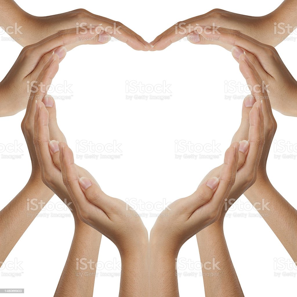 Hands make heart shape royalty-free stock photo