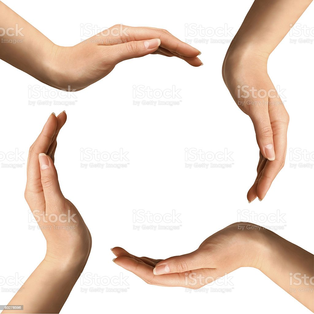 Hands Making a Circle stock photo