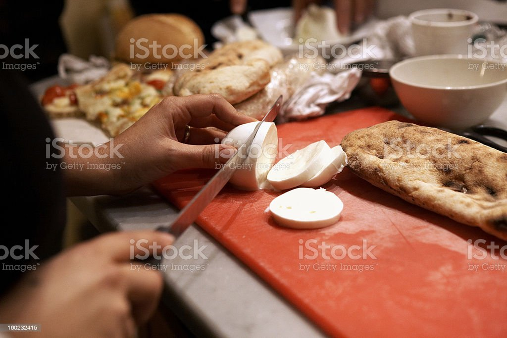 Hands Making Sandwich royalty-free stock photo