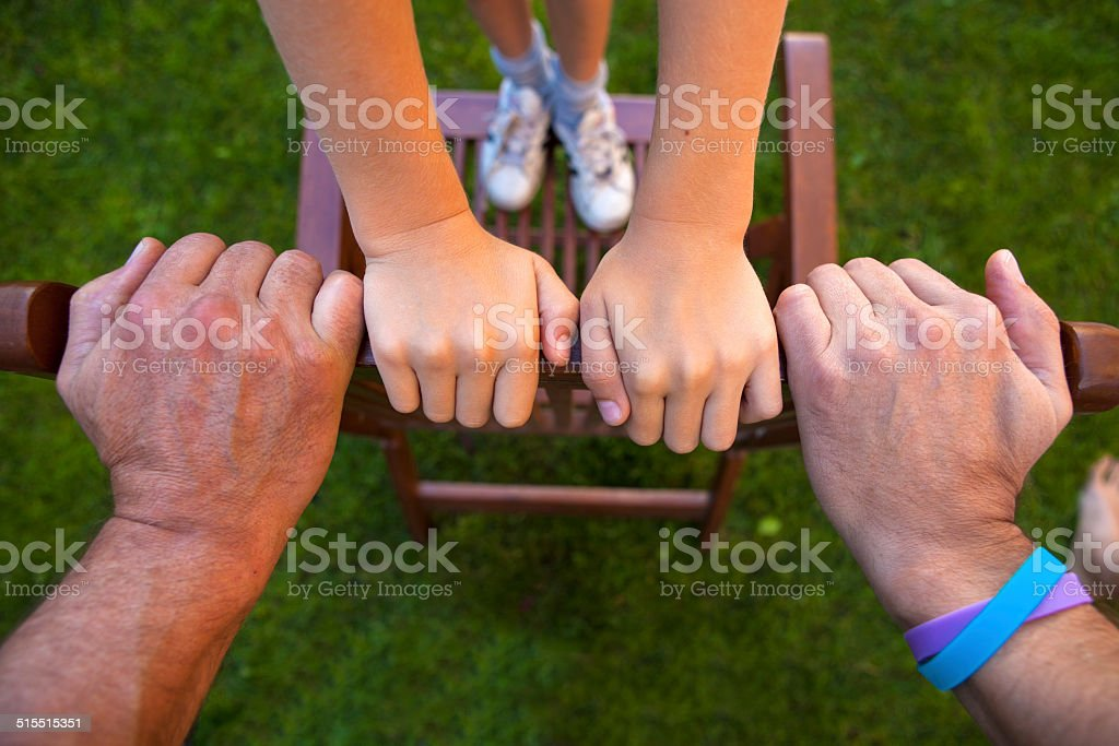 Hands men, three generations stock photo