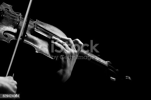 istock Hands musician playing the violin 529424004