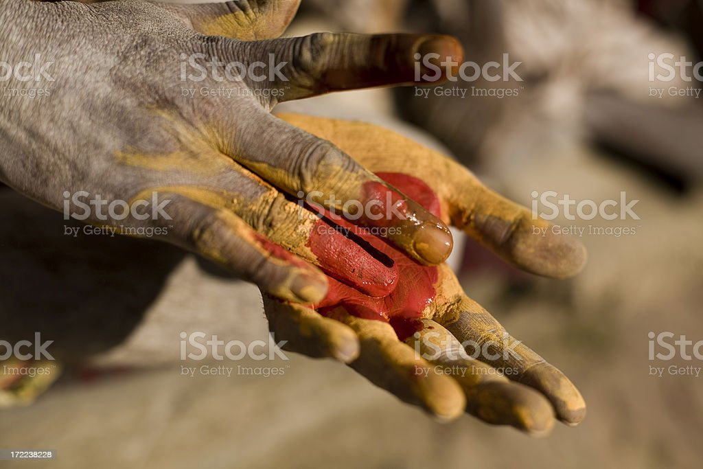 Hands of a holy man stock photo