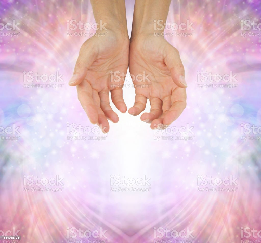 Hands of a Humble Healer stock photo
