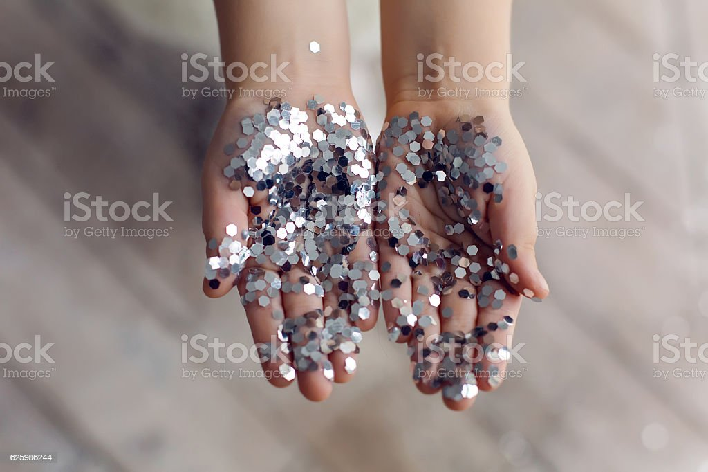 hands of a little girl stock photo
