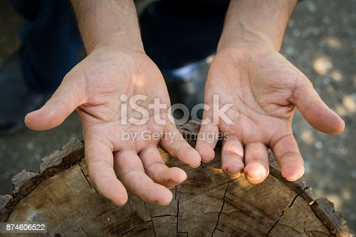 istock Hands of agricultural worker 874606522