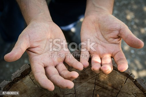 istock Hands of agricultural worker 874606524