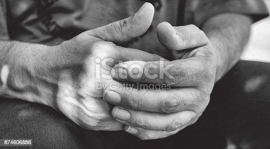 istock Hands of agricultural worker 874606886