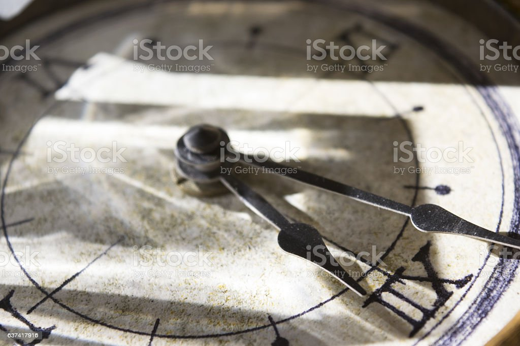 hands of an old clock stock photo