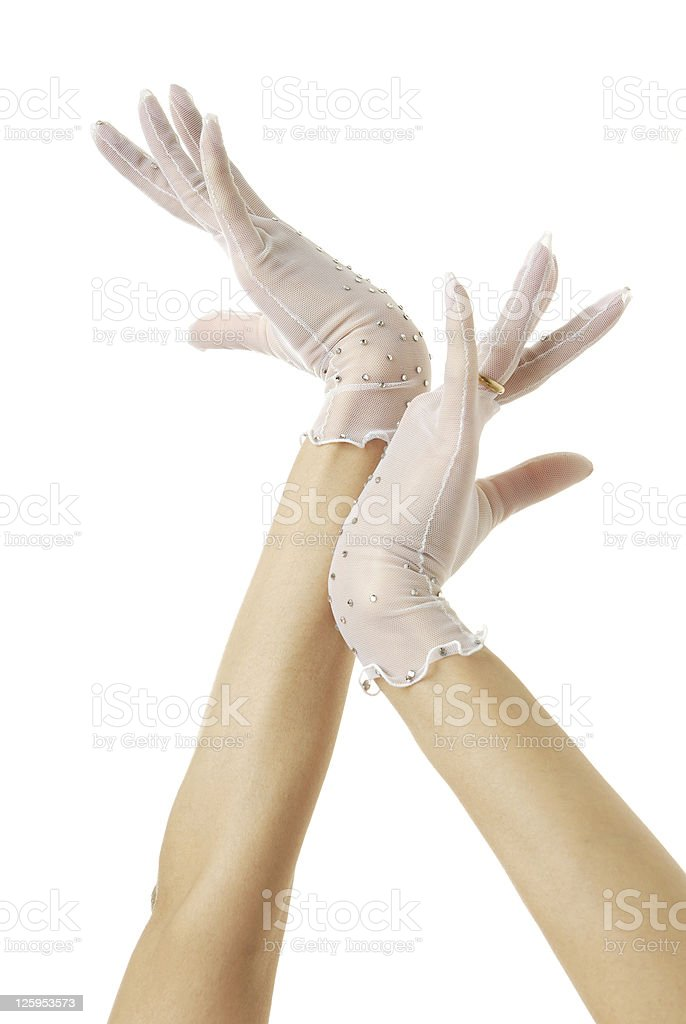 Hands of bride royalty-free stock photo