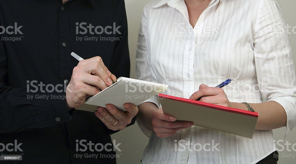 hands of business couple royalty-free stock photo