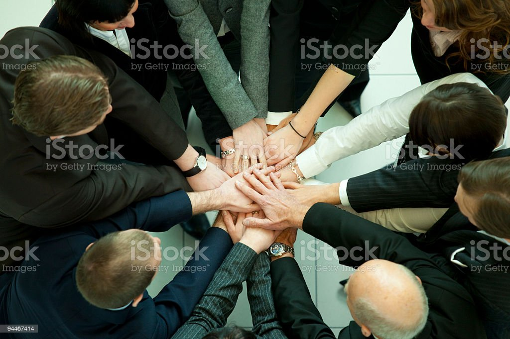 hands of business people royalty-free stock photo