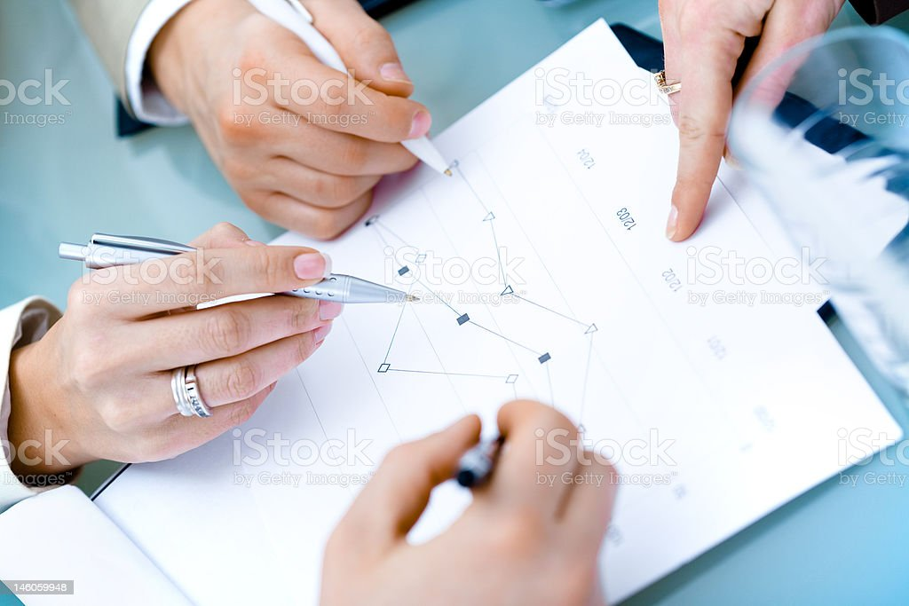 Hands of Businesspeople royalty-free stock photo