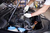 istock Hands of car mechanic 490048372