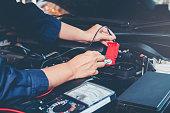 istock Hands of car mechanic working in auto repair service. 913589534