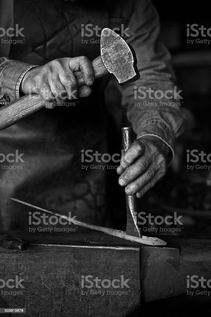 Hands of Character stock photo