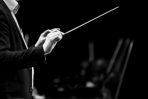 Hands of conductor
