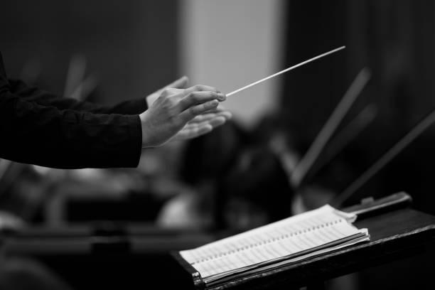 Hände des Dirigent – Foto