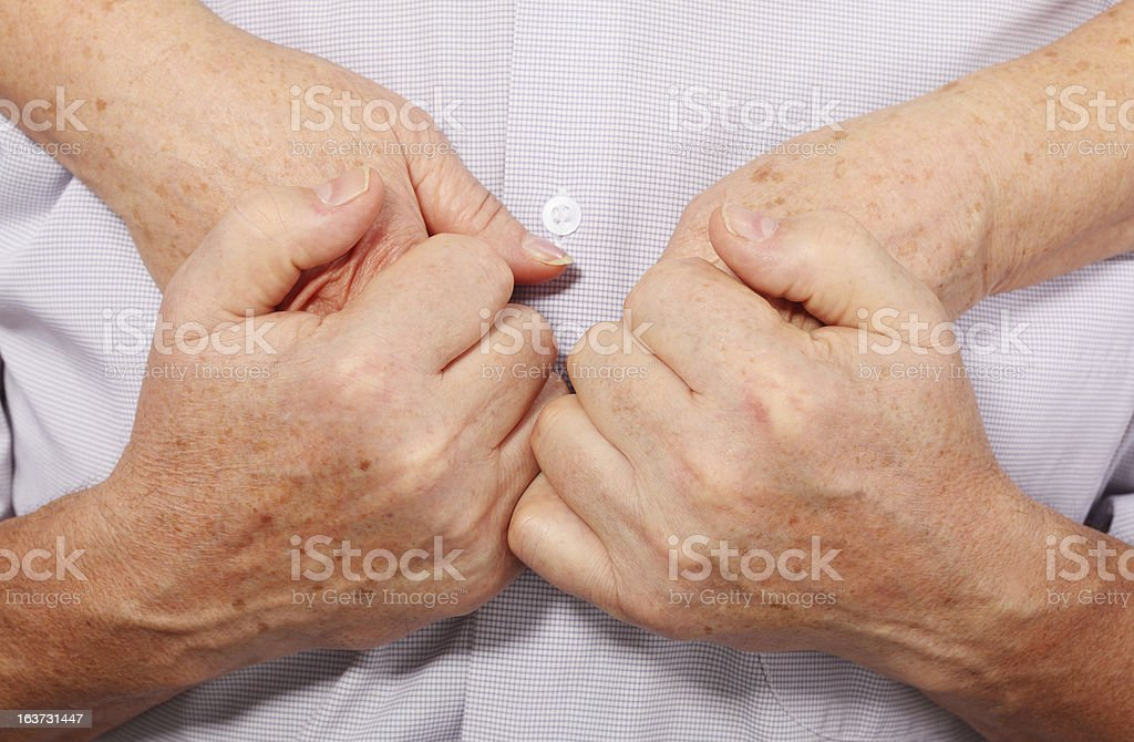 hands of couple, close stock photo