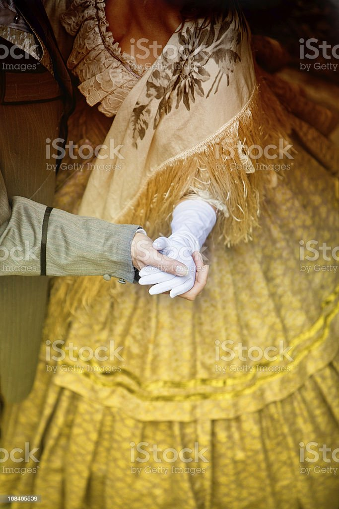 Hands of dancing couple stock photo