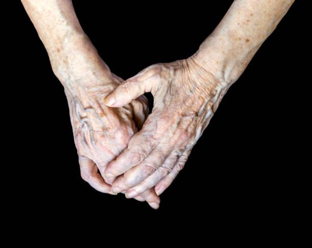 Hände alter Frau – Foto