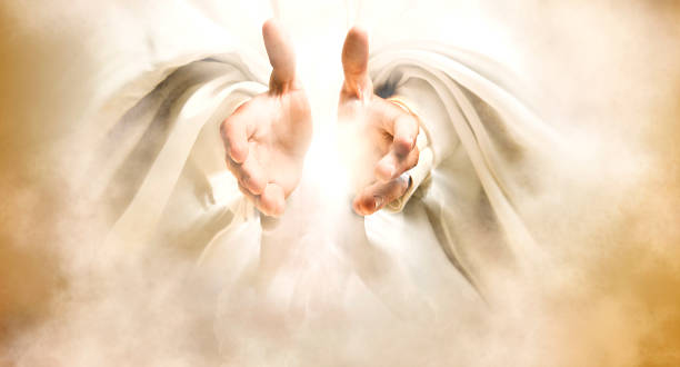 hands of god - god stock photos and pictures