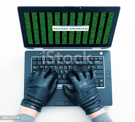 istock Hands of Hacker managed to break the virus protection 840177458