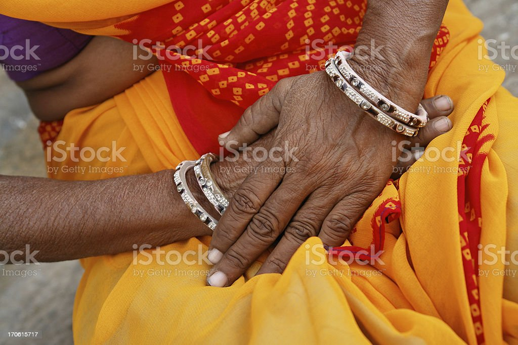 Hands of Indian Woman royalty-free stock photo