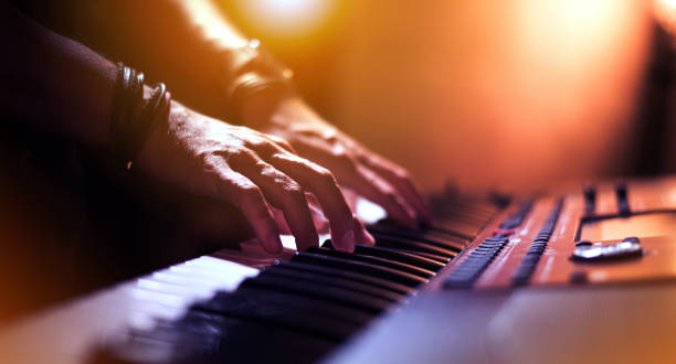 Hands of keyboard player at the stage Image of Hands of keyboard player at the stage. keyboard player stock pictures, royalty-free photos & images