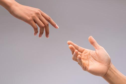 Flirten aanraken