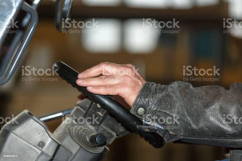 Hands of man stock photo