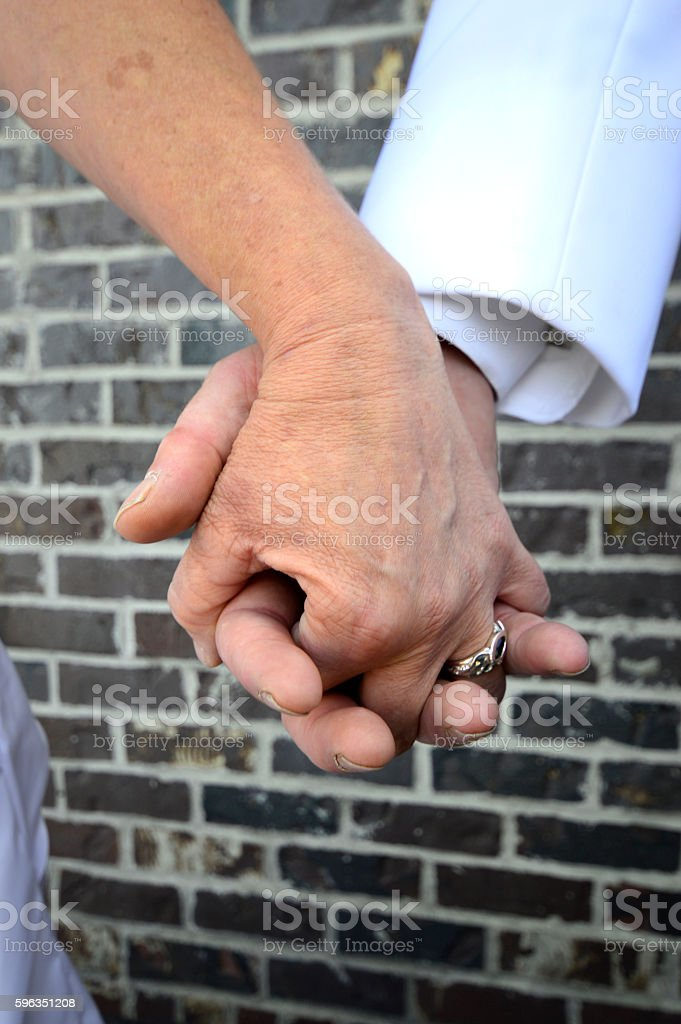 Hands of matrimony royalty-free stock photo
