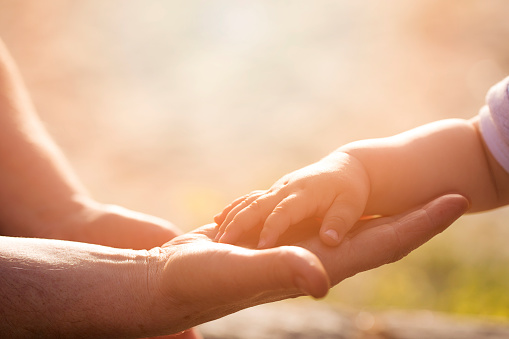 istock hands of old and young 521542360