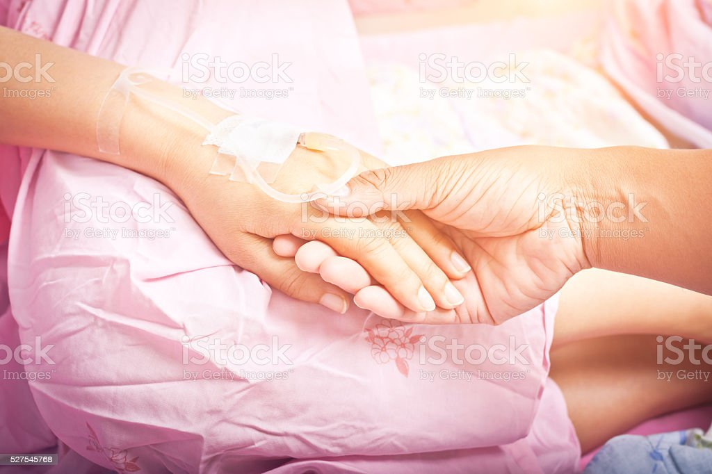 Hands of patients stock photo